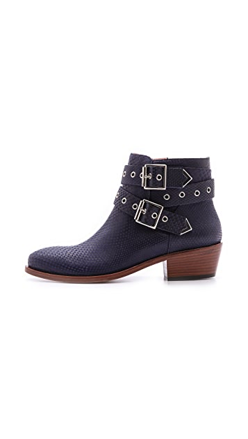 Studio Pollini Double Buckle Booties
