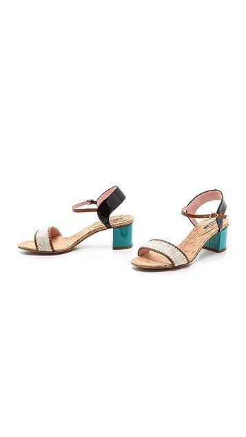 Studio Pollini Chunky Heel Sandals