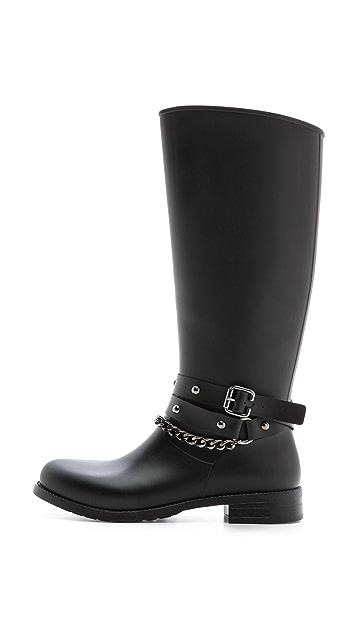 Studio Pollini Moto Rain Boots