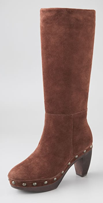 Steven Geraldyn Suede Clog Boots
