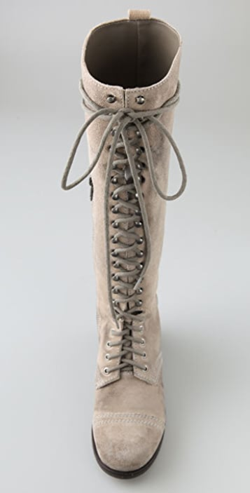 Steven Abee Suede Lace Up Boots