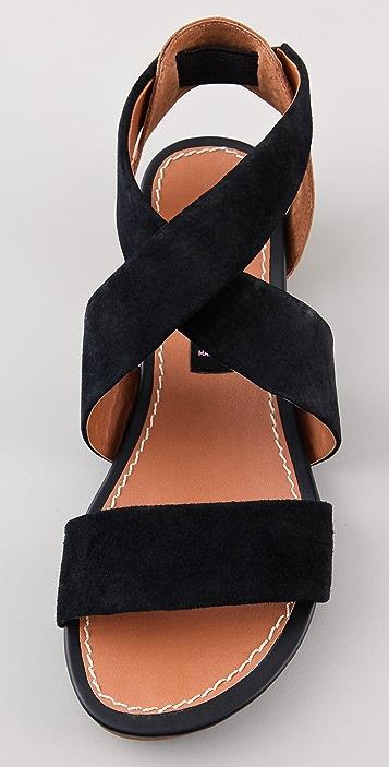 Steven Benit Suede Flat Sandals