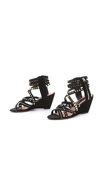 Steven Soulfil Studded Zip Sandals