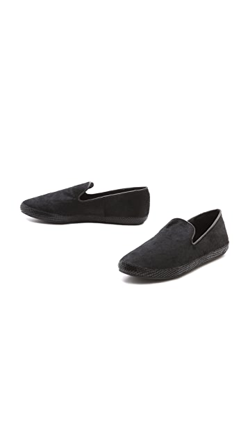 Steven Cluch Haircalf Flat Loafers