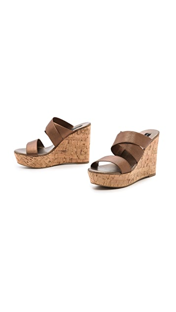 Steven Freezee Cork Wedge Sandals