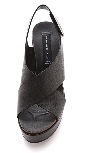 Steven Genesis Slingback Wedge Sandals