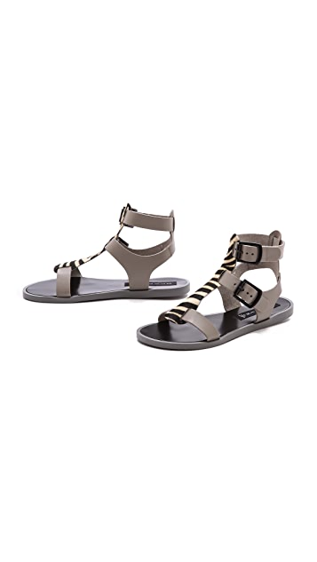 Steven Whymm Mixed Media Sandals