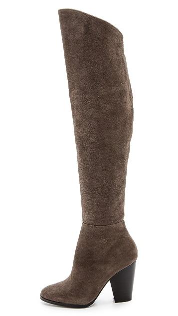 Steven Sleek Suede Over the Knee Boots