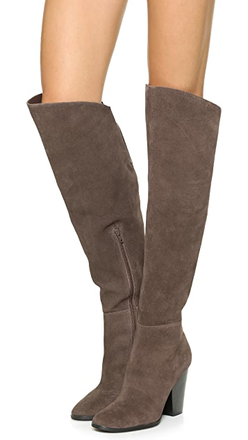 Steven Sleek Suede Over the Knee Boots