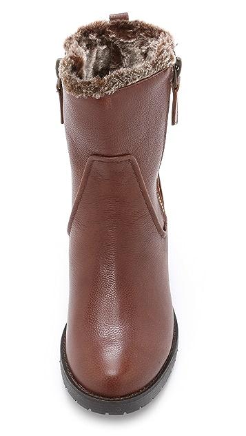 Steven Faux Fur Lined Combat Boots