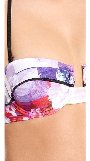 Suboo Floral Rise Bandeau Bikini