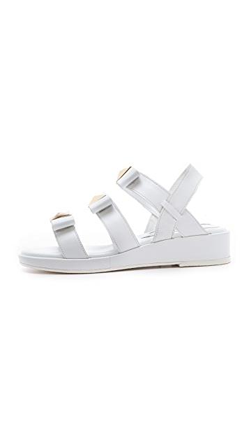 Suecomma Bonnie Triple Strap Stud Sandals