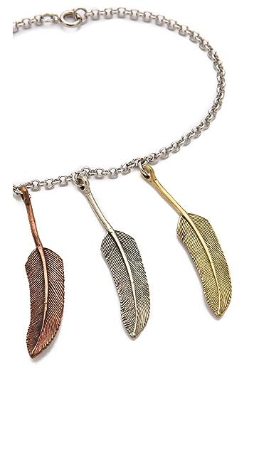 SunaharA Malibu Three Feather Anklet