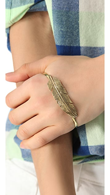 SunaharA Malibu Feather Hand Bracelet