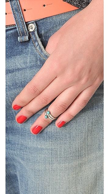 SunaharA Malibu Turquoise Wrap Mid Knuckle Ring
