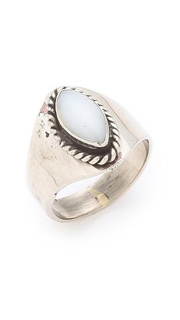 SunaharA Malibu White Stone Mid Knuckle Ring