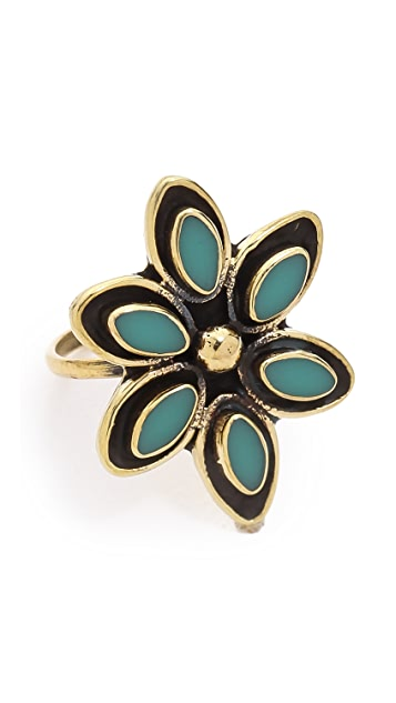 SunaharA Malibu Flower Midi Ring