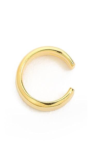SunaharA Malibu Double Plain Clip On Ear Cuff