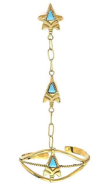 SunaharA Malibu Arrowhead Gypsy Cuff Bracelet