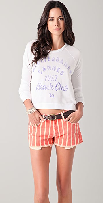 SUNDRY Cannes Cropped Pullover