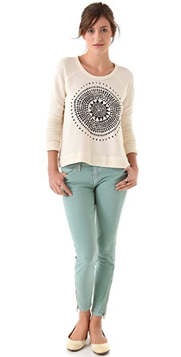 SUNDRY Cropped Pullover