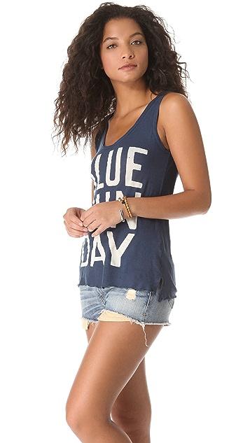 SUNDRY Blue Sunday Tank