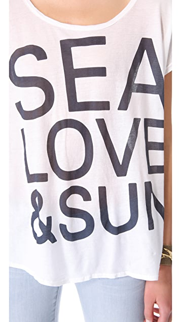SUNDRY Sea, Love & Sun Tee