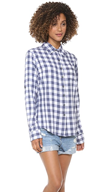 SUNDRY Checkered Button Up Shirt