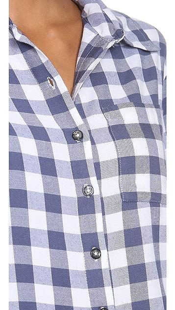 SUNDRY Checkered Button Up Shirt