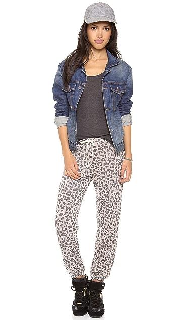 SUNDRY Leopard Classic Sweatpants