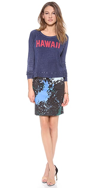 SUNDRY Hawaii Cropped Pullover