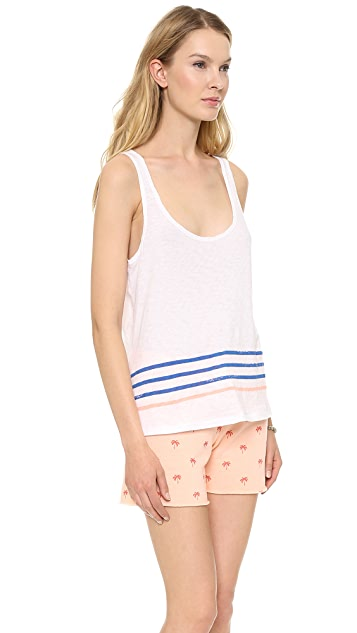 SUNDRY Striped Boxy Tank