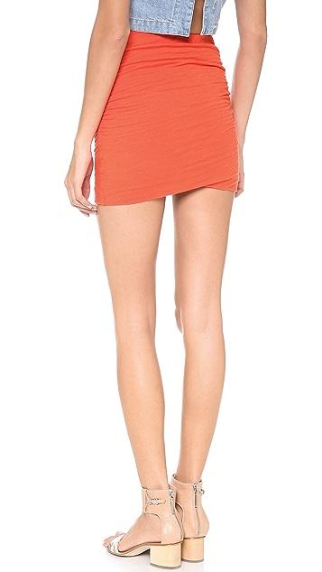SUNDRY Ruched Skirt