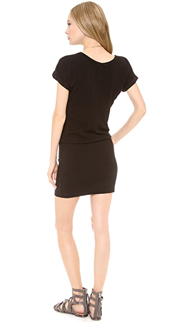 SUNDRY Short Sleeve Raglan Dress