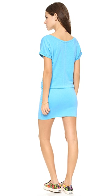 SUNDRY Short Sleeve Raglan Dress