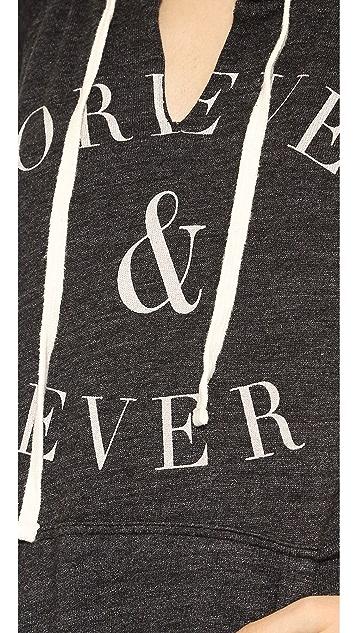 SUNDRY Forever & Ever Short Sleeve Hoodie