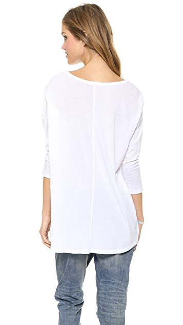 SUNDRY Los Angeles New York Paris 3/4 Sleeve Tunic
