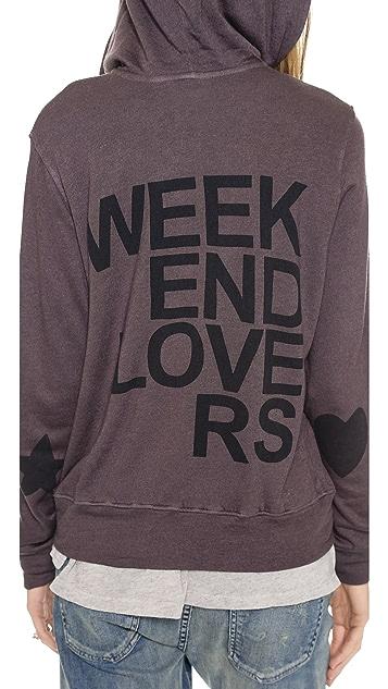SUNDRY Weekend Lovers Zip Hoodie
