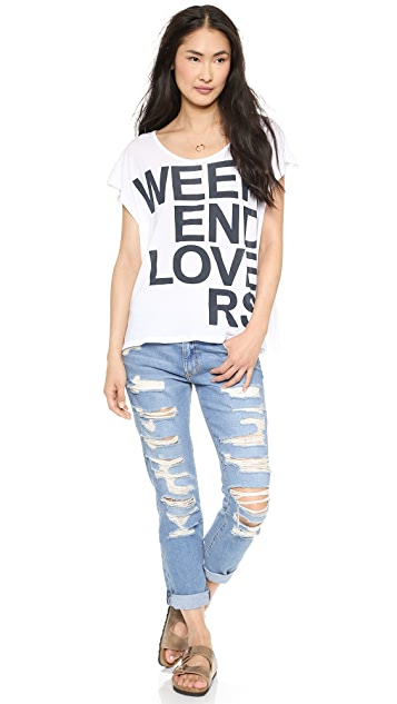 SUNDRY Weekend Lovers Square Tee