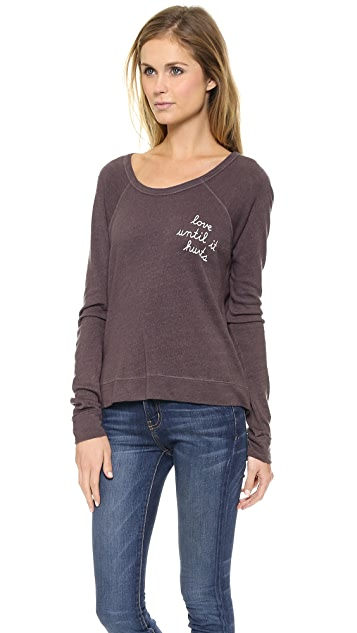 SUNDRY Loved Cropped Pullover