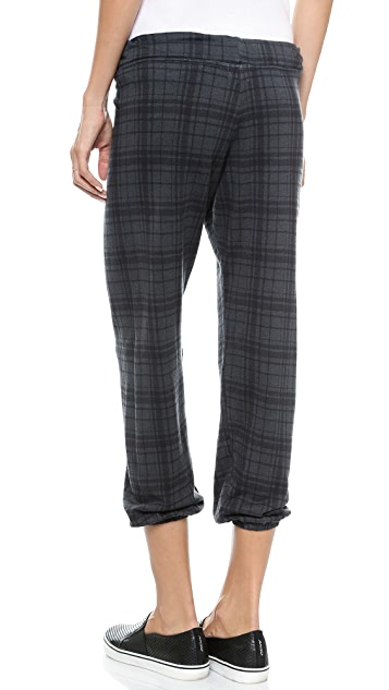 SUNDRY Plaid Sweatpants