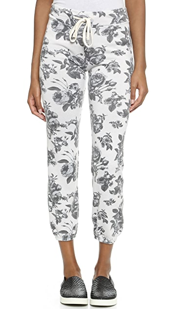 SUNDRY Floral Pattern Classic Sweatpants