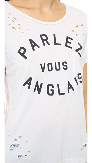 SUNDRY Parlez Vous Loose Tee