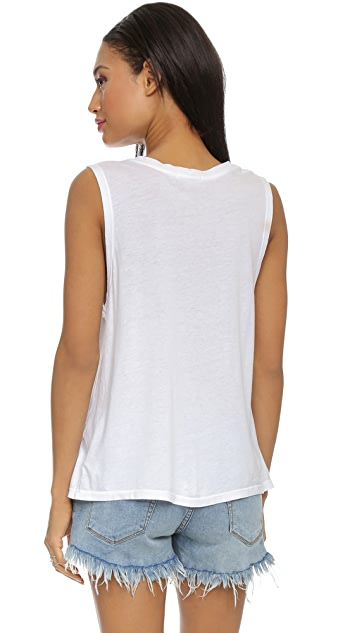 SUNDRY Star Muscle Tee