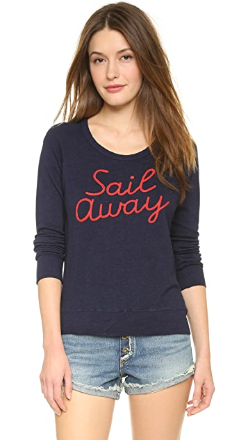 SUNDRY Sail Away Cropped Pullover