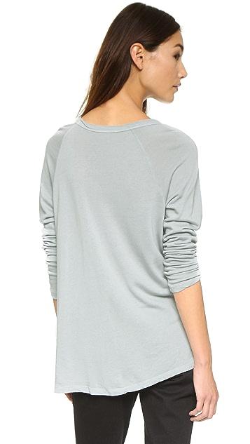 SUNDRY Long Sleeve Raglan Sweatshirt