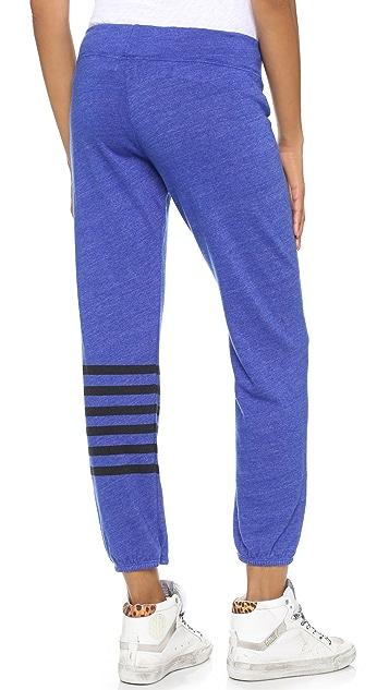 SUNDRY Placed Stripe Sweats