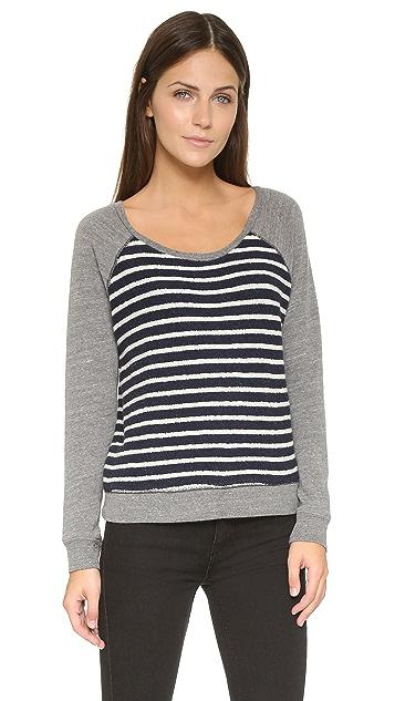 SUNDRY Stripe Raglan Sweatshirt