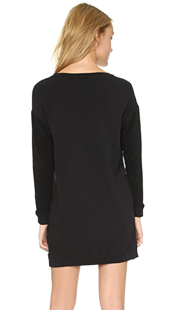 SUNDRY Side Zip Tunic Dress