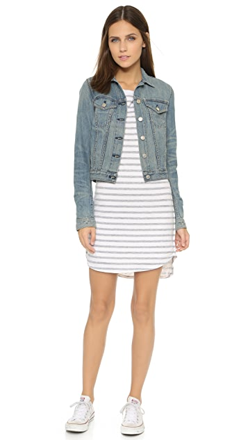 SUNDRY Long Sleeve Pocket Dress